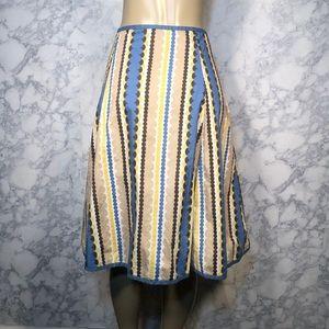 Boden 14 Midi Skirt Vertical Circle Print